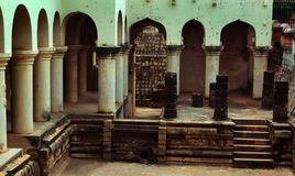 Ruins of the thanjavur maratha palace. The Thanjavur Maratha Palace Complex, known locally as Aranmanai, is the official residence of the Bhonsle family who royalty free stock photography