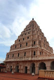 Bell tower of the thanjavur maratha palace with sky. The Thanjavur Maratha Palace Complex, known locally as Aranmanai, is the official residence of the Bhonsle royalty free stock photography