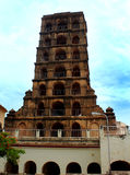 The thanjavur maratha palace tower. The Thanjavur Maratha Palace Complex, known locally as Aranmanai, is the official residence of the Bhonsle family who ruled royalty free stock image