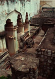 Ruins of the thanjavur maratha palace. The Thanjavur Maratha Palace Complex, known locally as Aranmanai, is the official residence of the Bhonsle family who stock photo