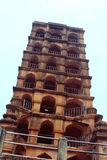 The thanjavur maratha palace tower. The Thanjavur Maratha Palace Complex, known locally as Aranmanai, is the official residence of the Bhonsle family who ruled royalty free stock photos
