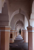 People hall of the thanjavur maratha palace. The Thanjavur Maratha Palace Complex, known locally as Aranmanai, is the official residence of the Bhonsle family stock photo