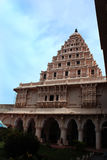 Bell tower in the thanjavur maratha palace. The Thanjavur Maratha Palace Complex, known locally as Aranmanai, is the official residence of the Bhonsle family who royalty free stock photo