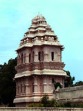 The thanjavur maratha palace entrance tower. The Thanjavur Maratha Palace Complex, known locally as Aranmanai, is the official residence of the Bhonsle family stock image