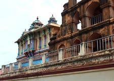 The thanjavur maratha palace with saraswathi mahal. The Thanjavur Maratha Palace Complex, known locally as Aranmanai, is the official residence of the Bhonsle stock image