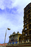 The thanjavur maratha palace tower with saraswathi mahal. The Thanjavur Maratha Palace Complex, known locally as Aranmanai, is the official residence of the stock photo
