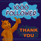 Thank 1000 followers Royalty Free Stock Photography