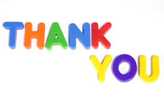 Thank you. Colored text with the words thank you Royalty Free Stock Image