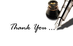 Thank You. Message isolated white stock photography
