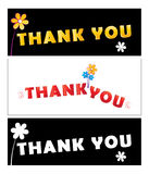 Thank you. Illustration of thank you cards collection Stock Photos