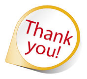 Thank you. An image of a nice thank you sign vector illustration