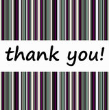 Thank you. Sending a loving 'thank you' message Royalty Free Stock Photos