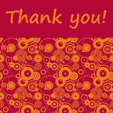 Thank you!. Sending someone a loving and modern 'thank you' note Royalty Free Stock Photo