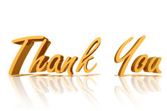 Thank you. Golden Thank You with copy space Stock Images