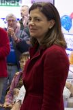 Thank You. Senator Kelly Ayotte making an appearance at an RNC rally in Nashua NH 2012 Royalty Free Stock Images