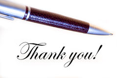 Thank you. Pen and inscription «thank you Stock Images