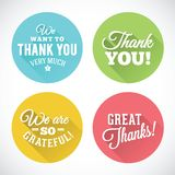 Thank You Abstract Vector Flat Style Badges or Stock Photography