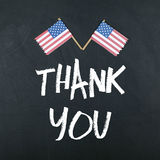 Thank You with American Flag Royalty Free Stock Photos