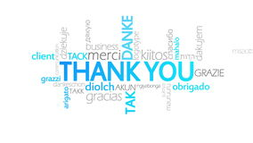 Thank You, Animated Typography. Thank you, Animated Inforgraph,4k  high quality stock footage