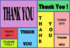A thank you appreciation electronic card for sending. A computer generated colorful illustration image of a thank you appreciation electronic card for sending royalty free illustration