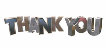 Thank You Appreciation Recognition Word Letters Royalty Free Stock Images