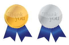 Thank you Award medals Royalty Free Stock Photo
