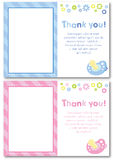 Thank you baby card Stock Photography