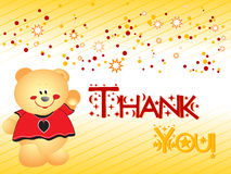 Thank you background with bear illustration Royalty Free Stock Images