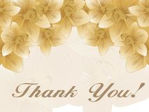 Thank you background with blossom Stock Photo