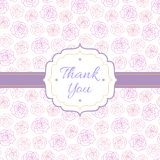 Thank You background with roses Royalty Free Stock Image