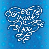 Thank you Background. A thank you background with unfocused lights. EPS 10, Two Layers, Gradient, transparency Stock Image