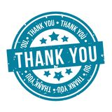 Thank You Badge. Blue  Eps10 Vector Stamp royalty free illustration