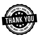 Thank You Badge. Eps10 Vector Stamp vector illustration