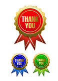 Thank you badge Stock Image