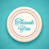 Thank you. Badge. Vector illustration Stock Photos
