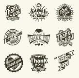 Thank you badge Royalty Free Stock Images