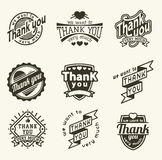 Thank you badge vector illustration