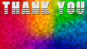 Thank You Banner Design 03. Colorful Background - High Resolution stock illustration