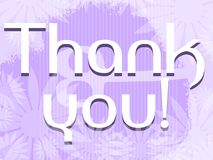 Thank you banner with floral fantasy Stock Image