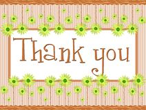Thank you banner with floral fantasy Royalty Free Stock Image