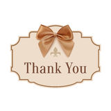 Thank you. Banner with golden ribbon Stock Images