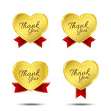 Thank you on banner sign message symbol isolated on white Stock Image