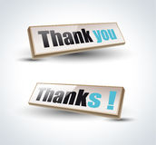 Thank you Banners with Shadow Royalty Free Stock Photography