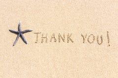 Thank You on Beach Sand