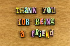 Thank you for being friend bff stock photo