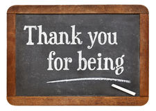 Thank you for being - Seneca greetings Stock Image
