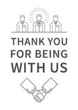 Thank you for being with us Inspiring phrase Royalty Free Stock Photos
