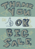 Thank you big sale ok  illustration Stock Photography