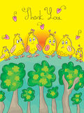 Thank You Bird_eps. Illusion of call the birds out of forest to say thank you and send love to you. --- This .eps file info Version: Illustrator 8 EPS Document Royalty Free Illustration