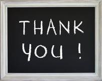 Thank You Black Chalk Board Stock Photography